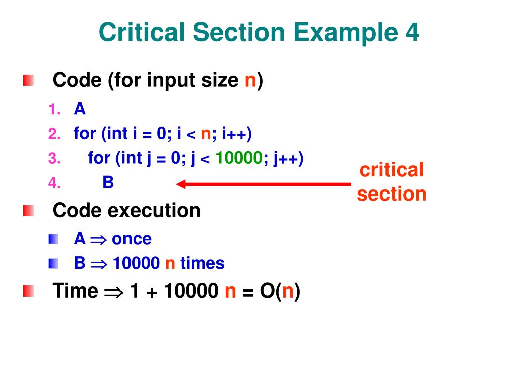 Critical Section Example 4