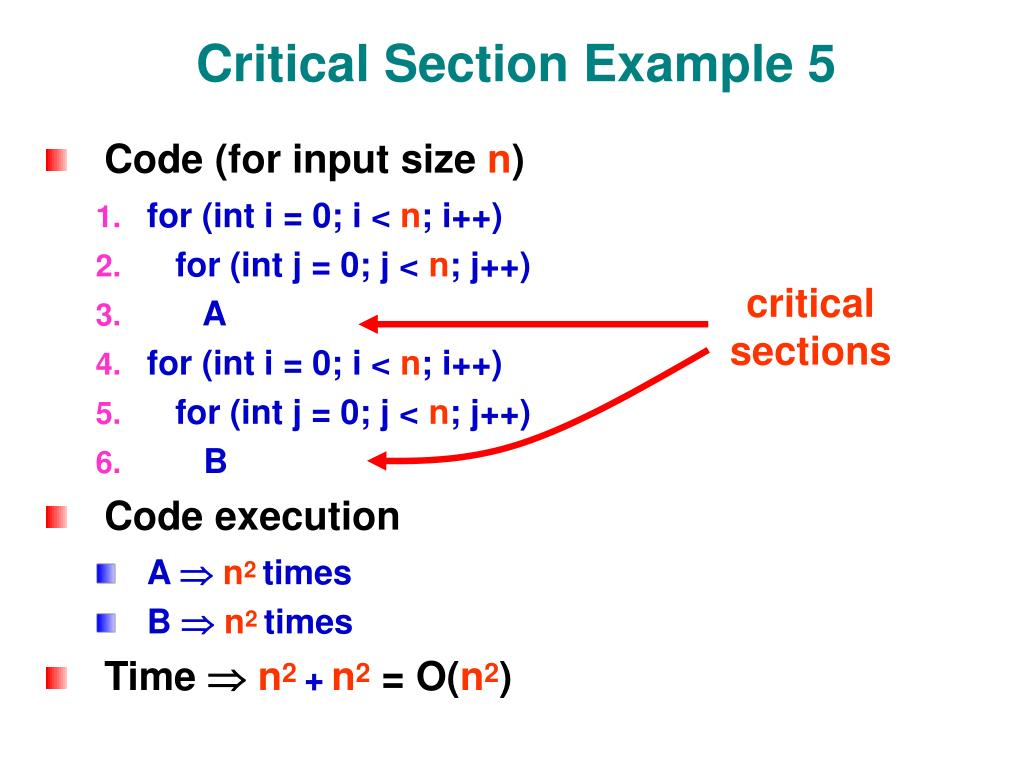 Critical Section Example 5