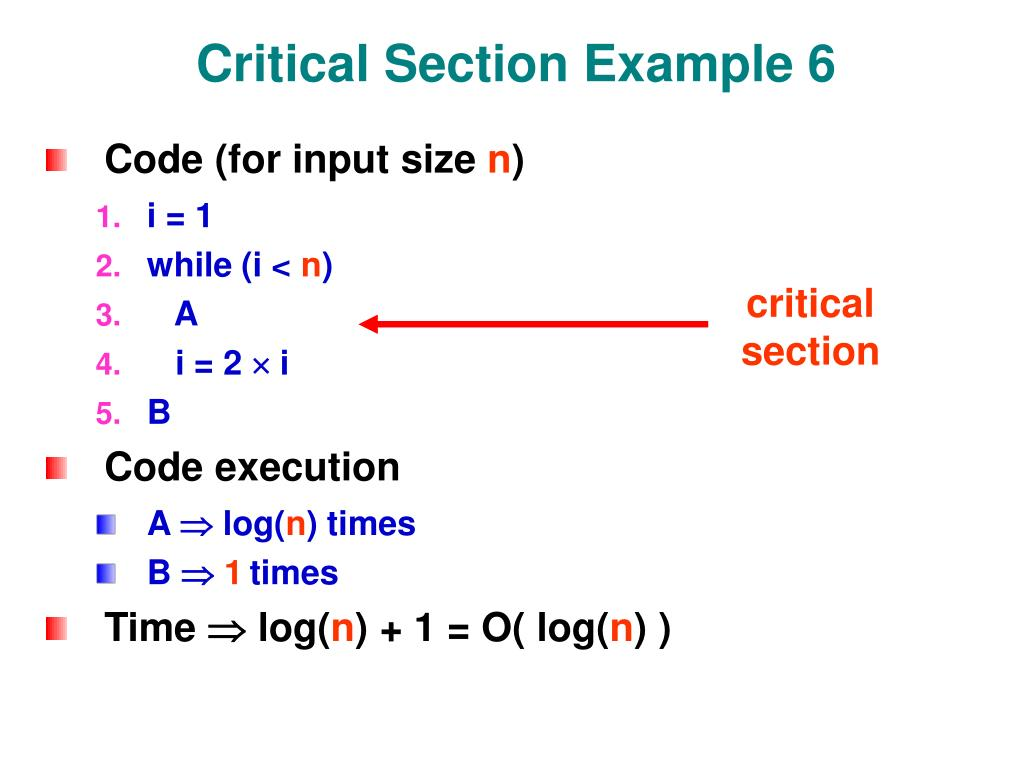 Critical Section Example 6