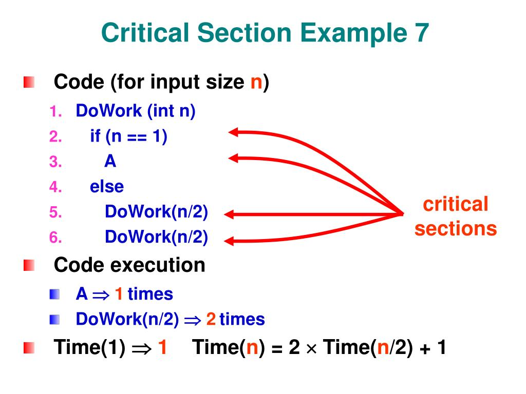 Critical Section Example 7