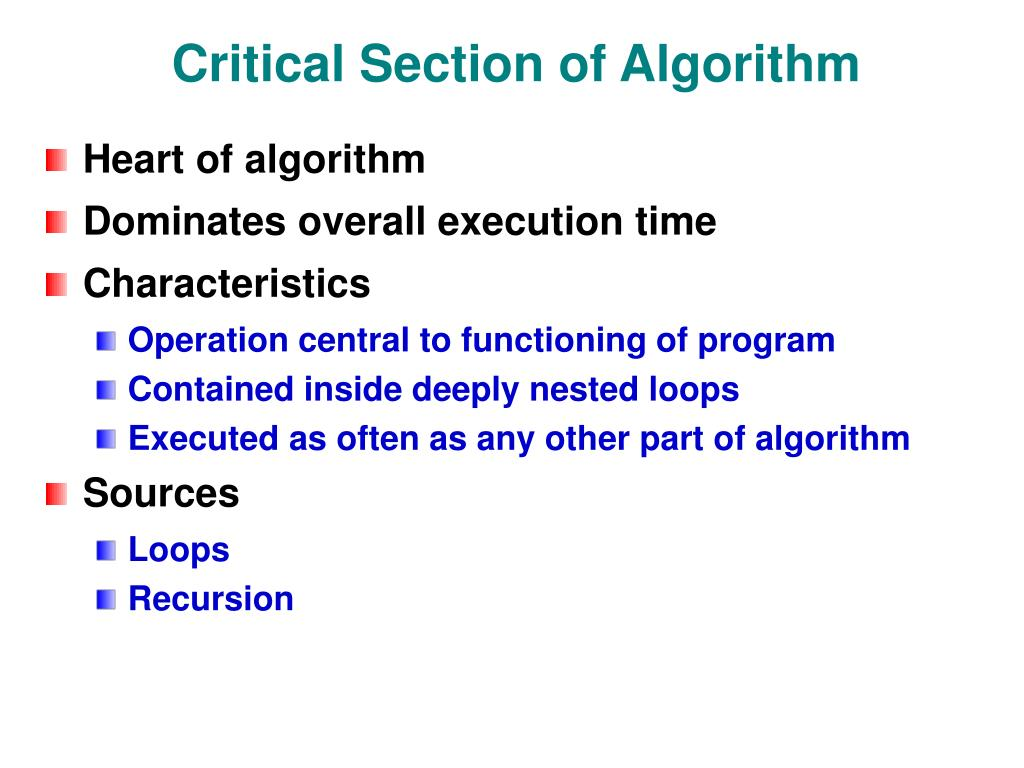Critical Section of Algorithm