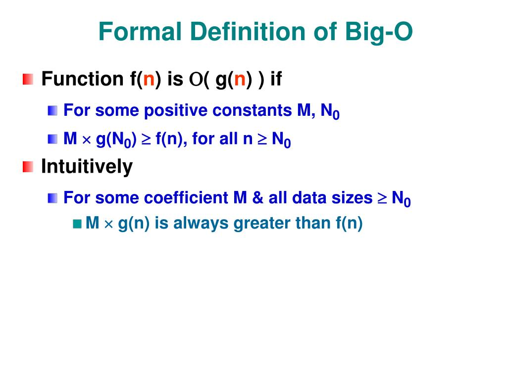 Formal Definition of Big-O