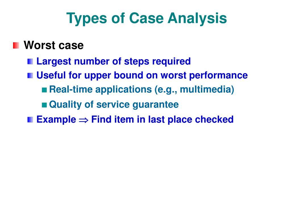 Types of Case Analysis