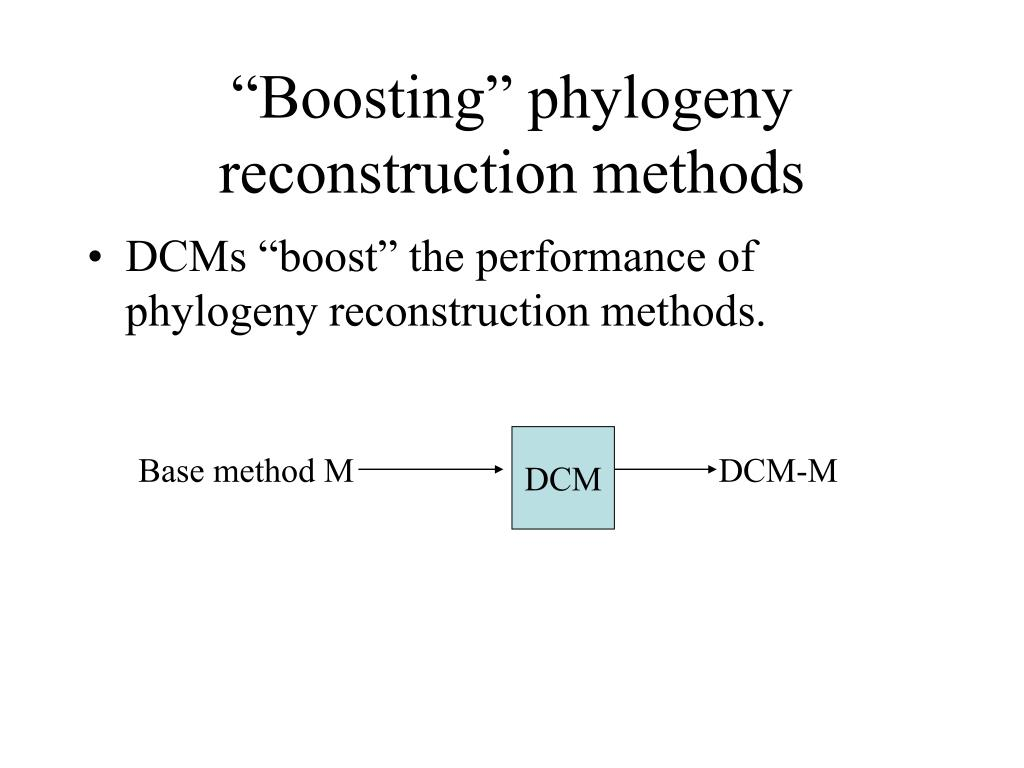 """Boosting"" phylogeny reconstruction methods"