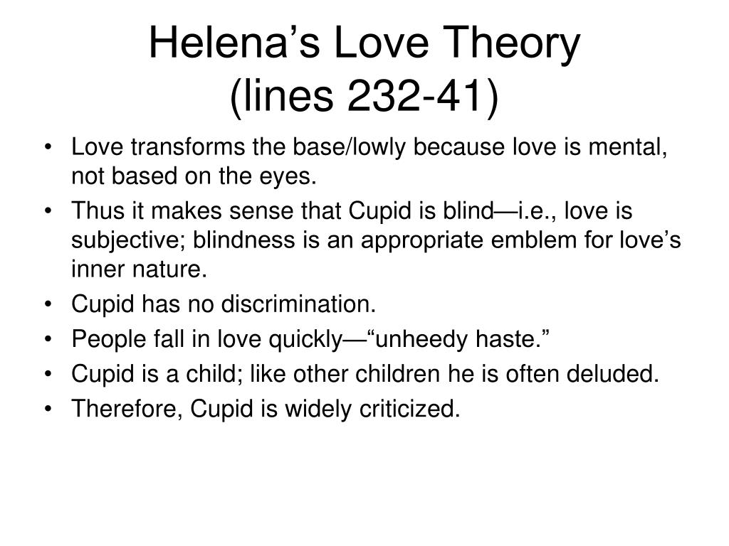 Helena's Love Theory