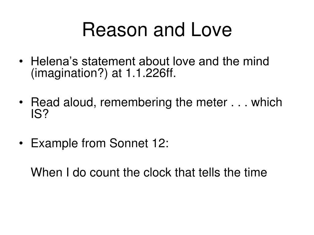 Reason and Love