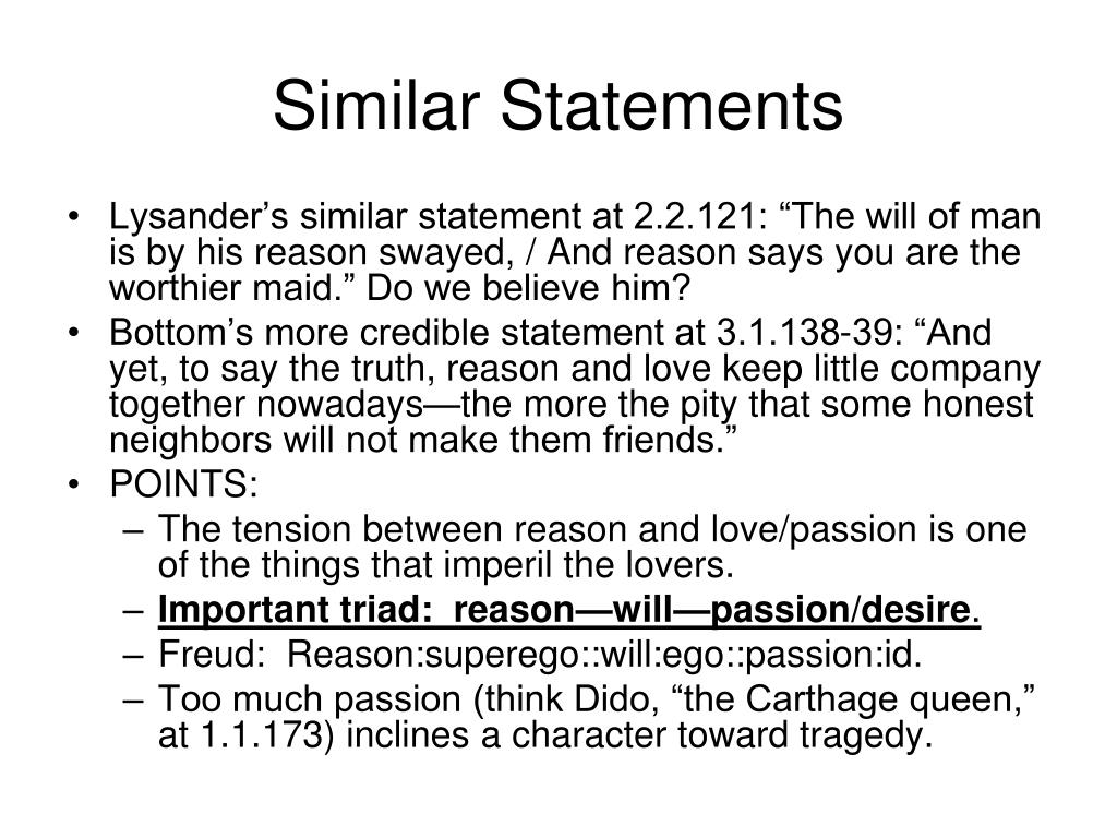 Similar Statements