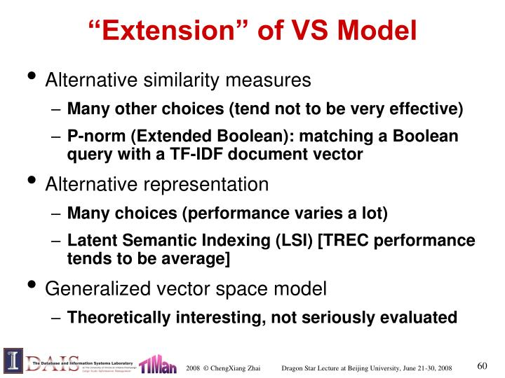 """Extension"" of VS Model"