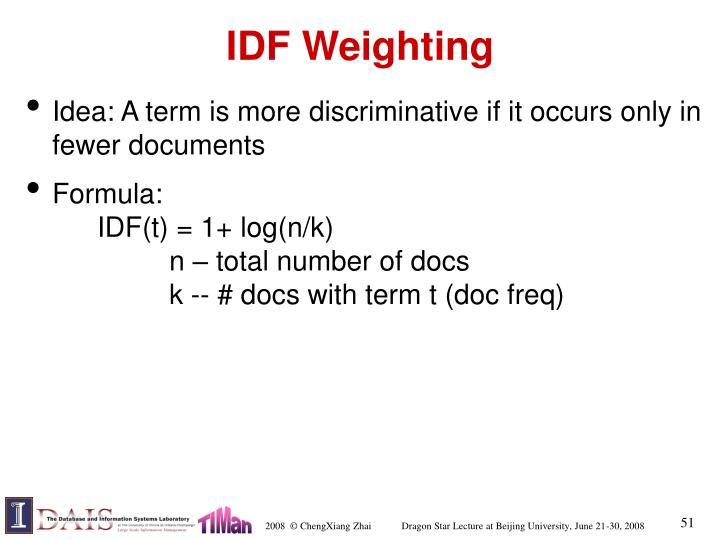 IDF Weighting