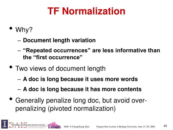 TF Normalization