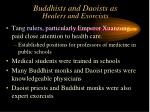 buddhists and daoists as healers and exorcists