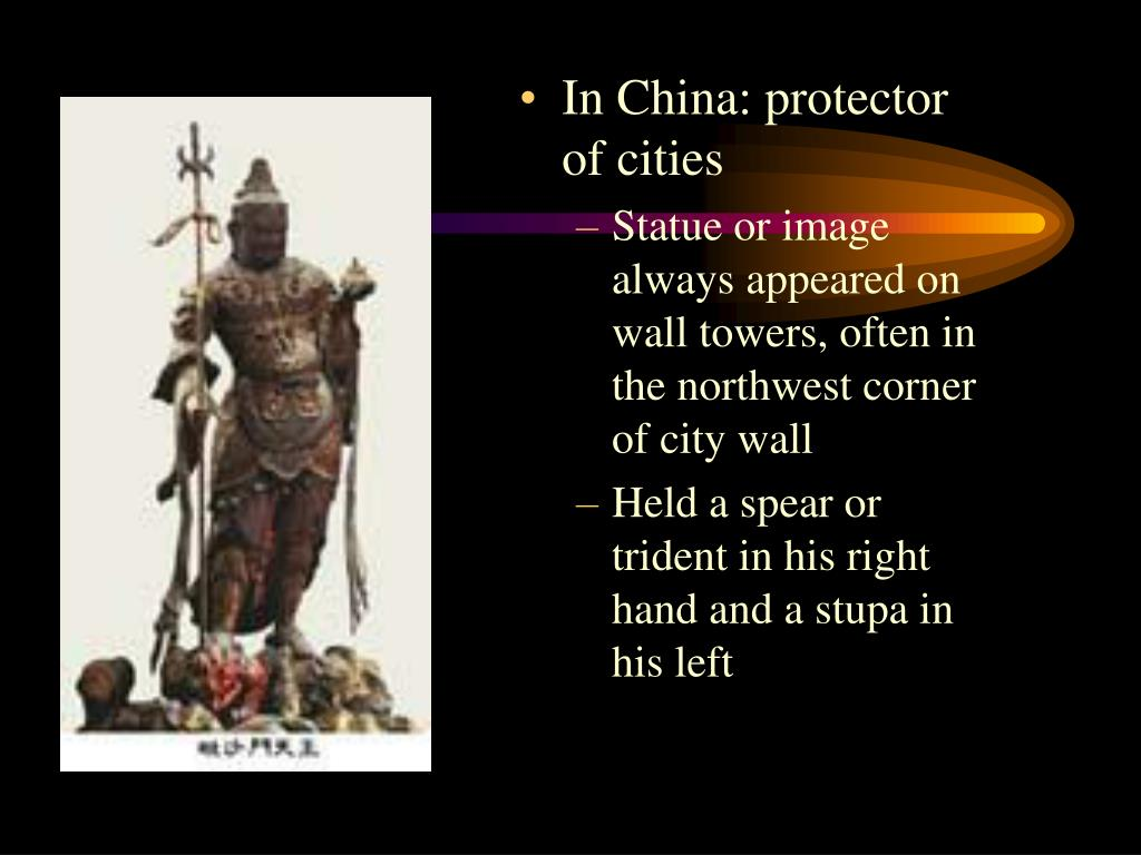 In China: protector of cities