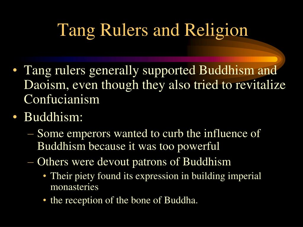 Tang Rulers and Religion