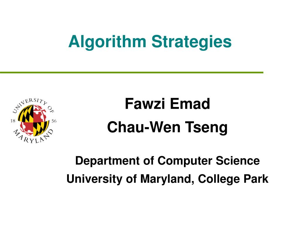 Algorithm Strategies