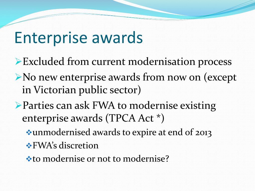 Enterprise awards