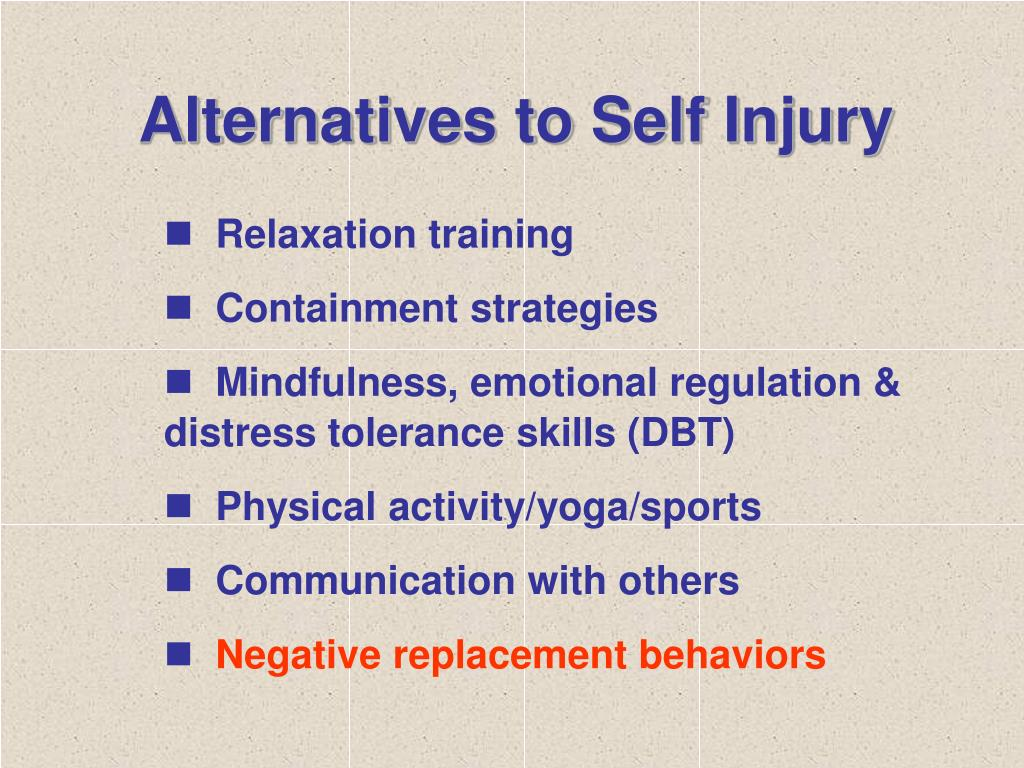 Alternatives to Self Injury