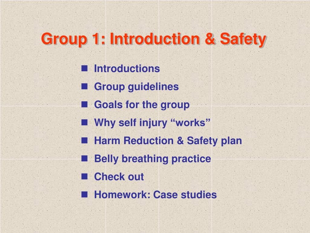 Group 1: Introduction & Safety