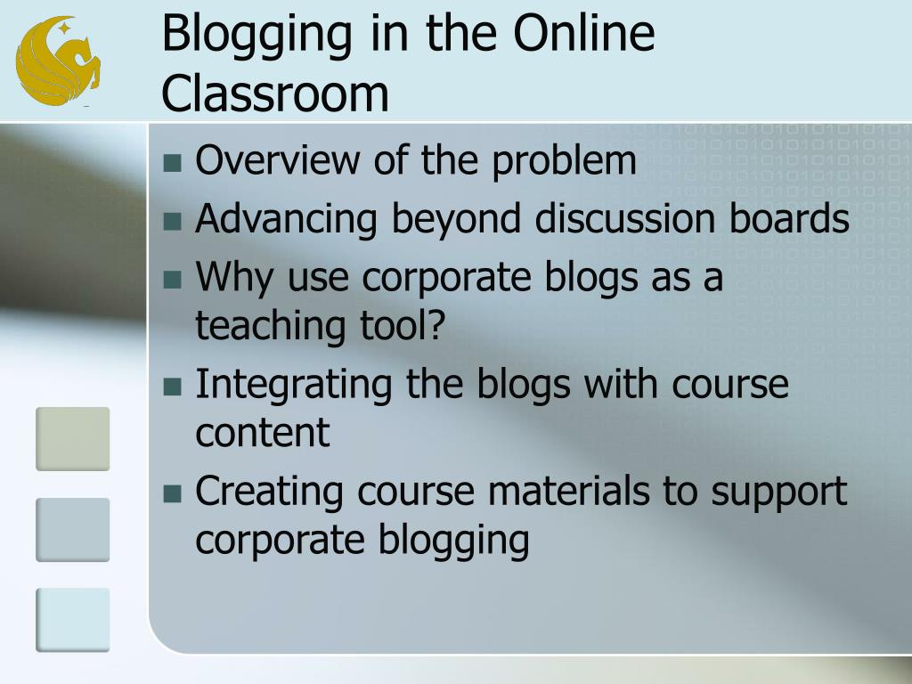 Blogging in the Online Classroom