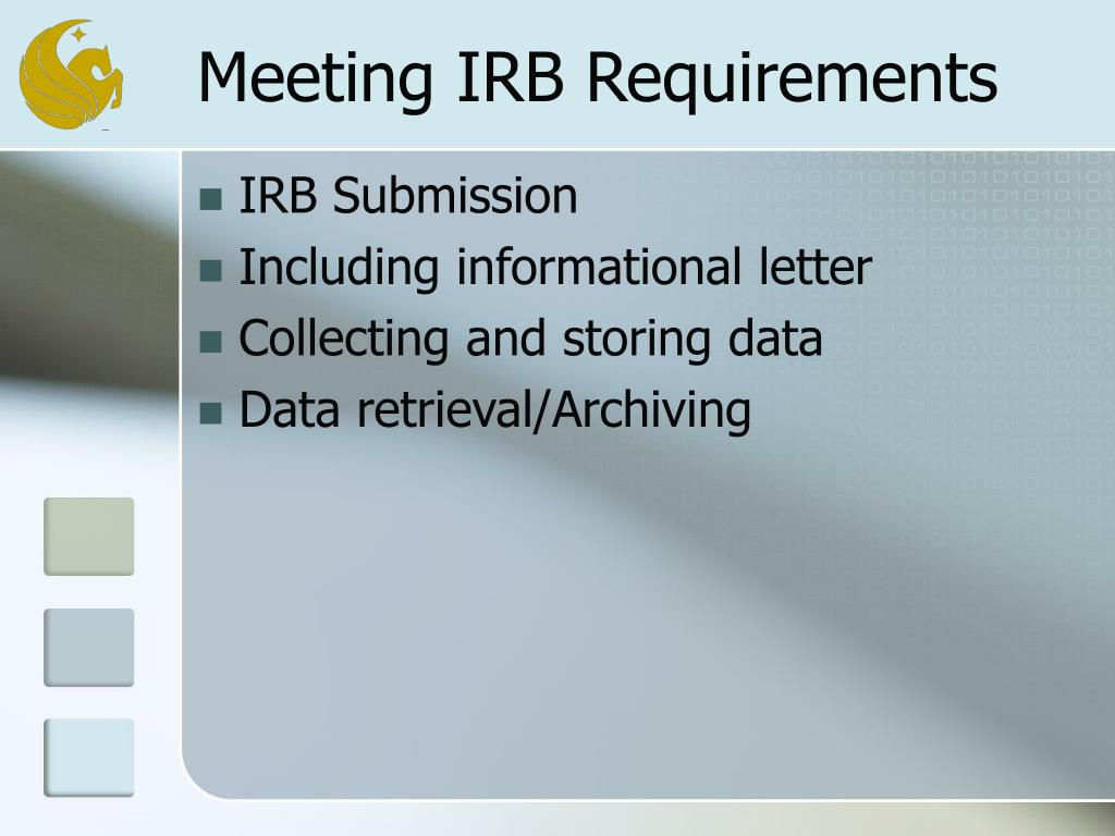 Meeting IRB Requirements