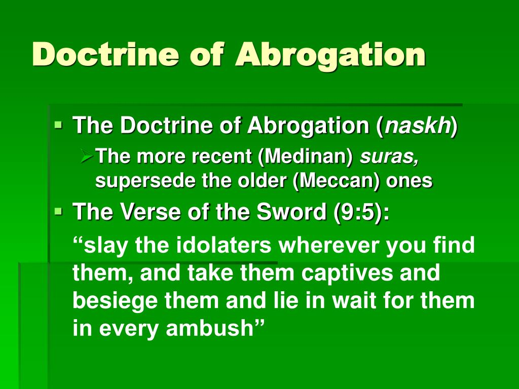 Doctrine of Abrogation