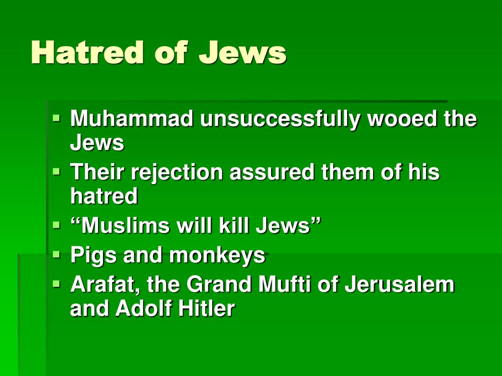 Hatred of Jews