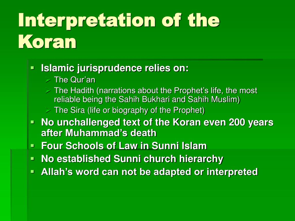 Interpretation of the Koran