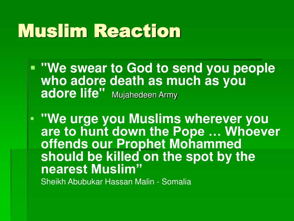 Muslim Reaction