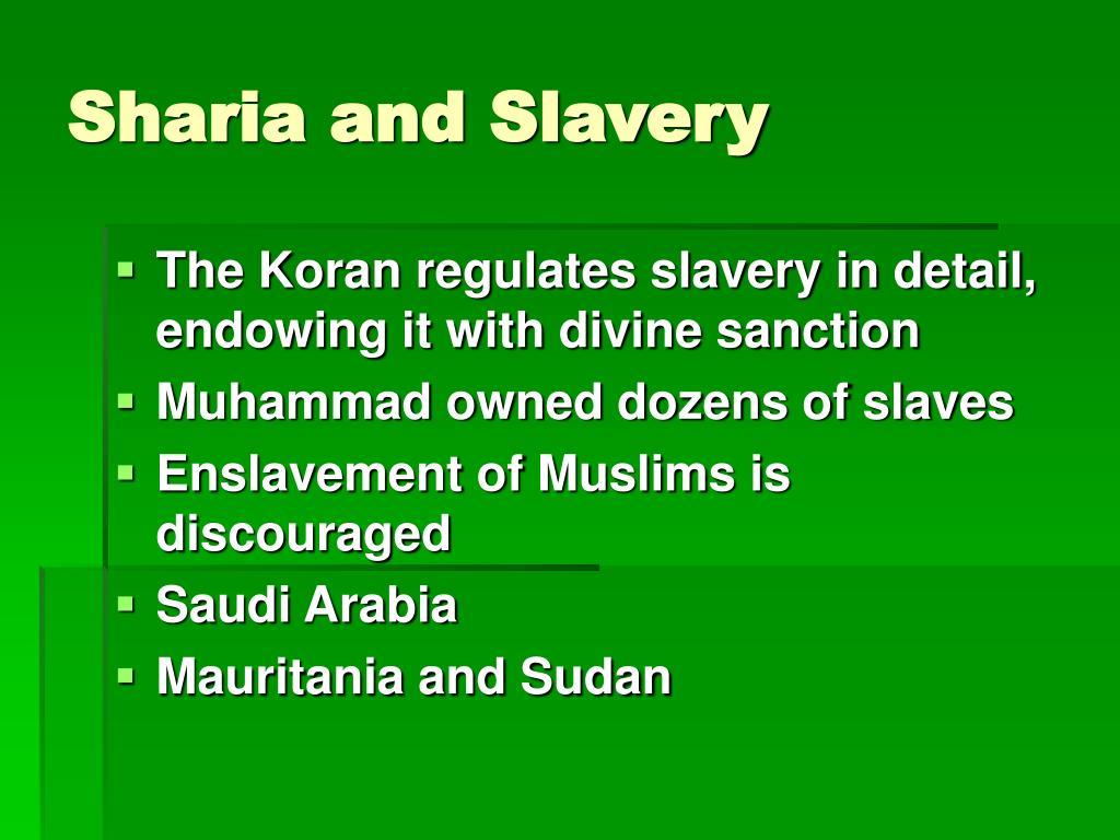 Sharia and Slavery