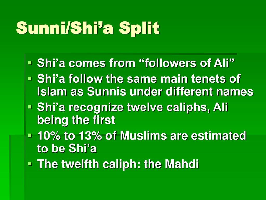 Sunni/Shi'a Split