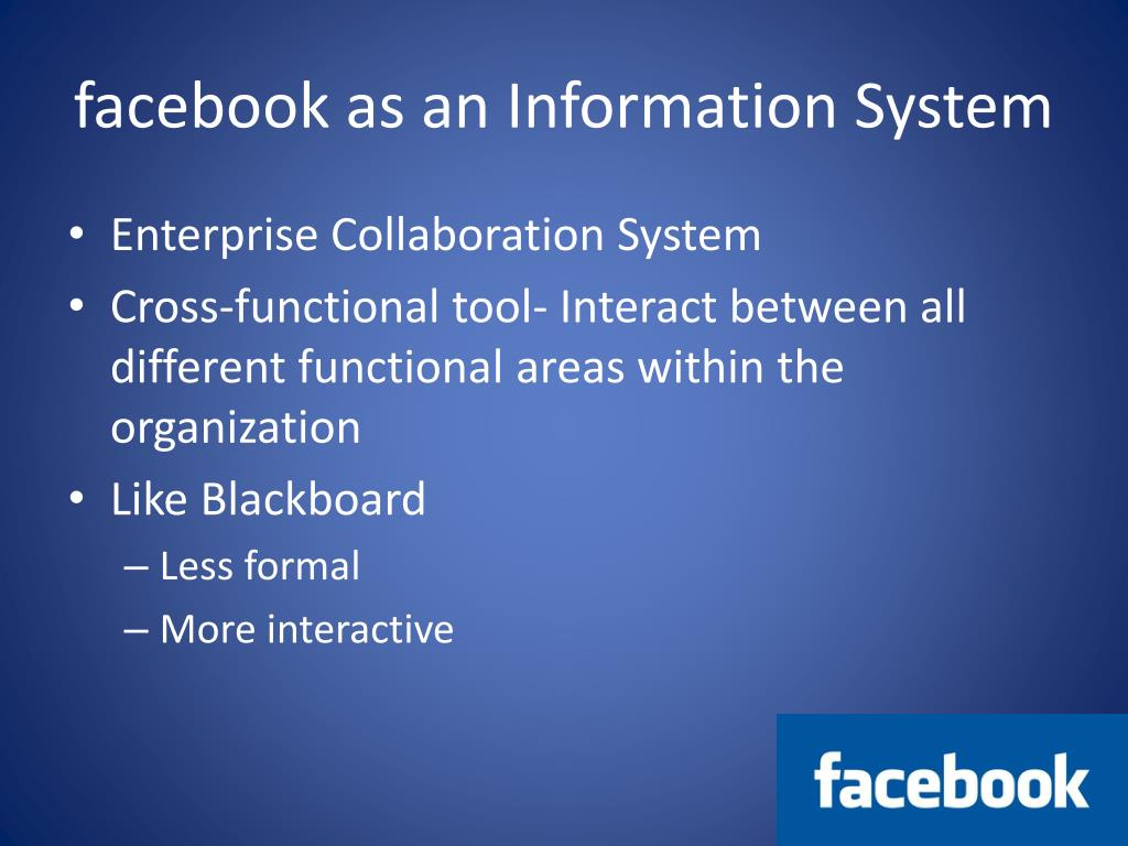 facebook as an Information System