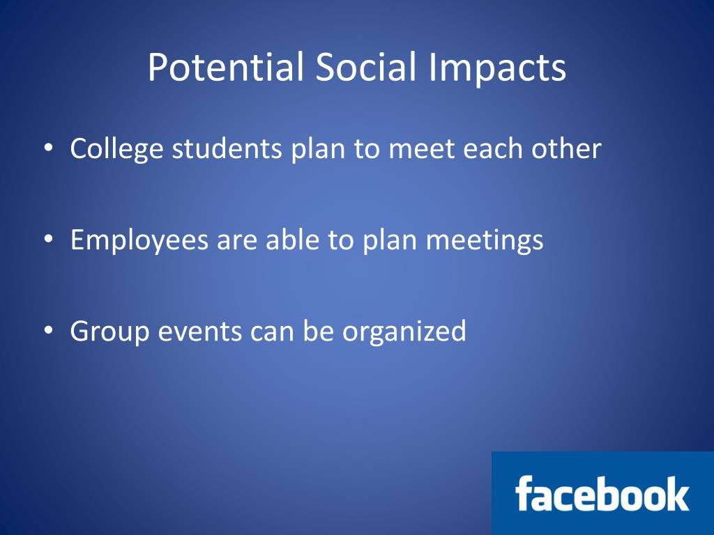 Potential Social Impacts