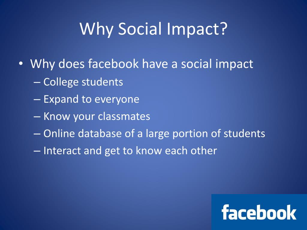 Why Social Impact?