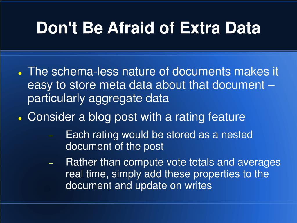 Don't Be Afraid of Extra Data