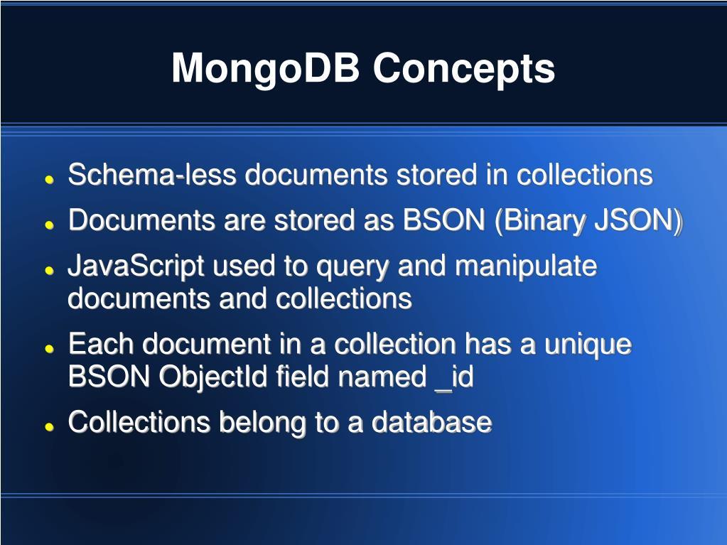 MongoDB Concepts