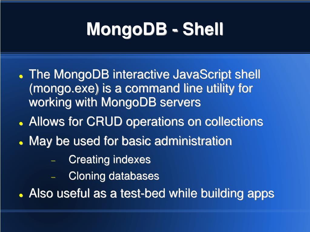 MongoDB - Shell