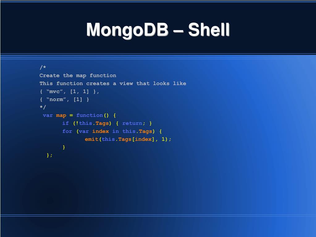 MongoDB – Shell