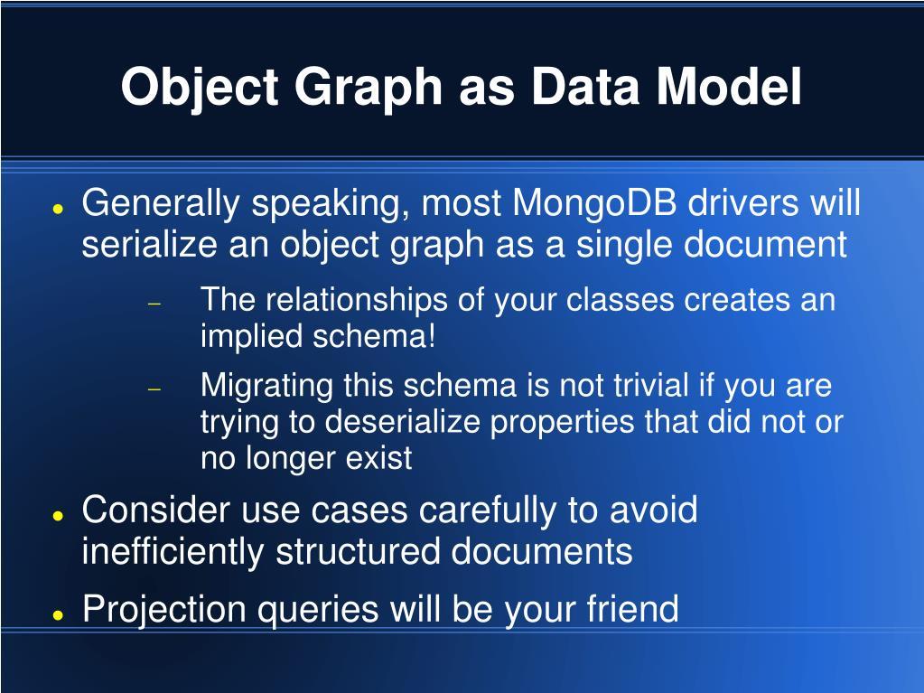 Object Graph as Data Model