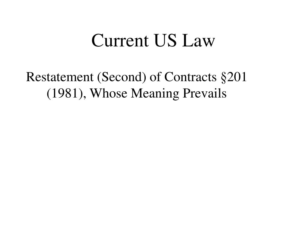 Current US Law