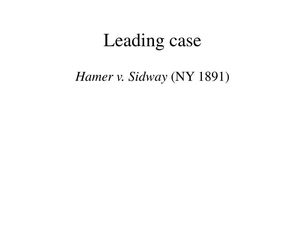 Leading case