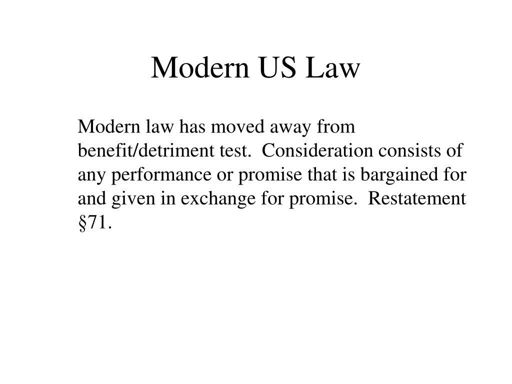Modern US Law