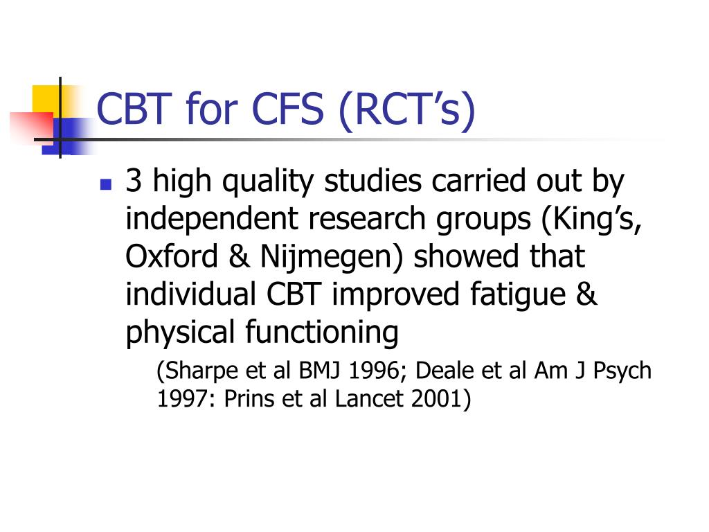 CBT for CFS (RCT's)