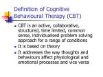 definition of cognitive behavioural therapy cbt