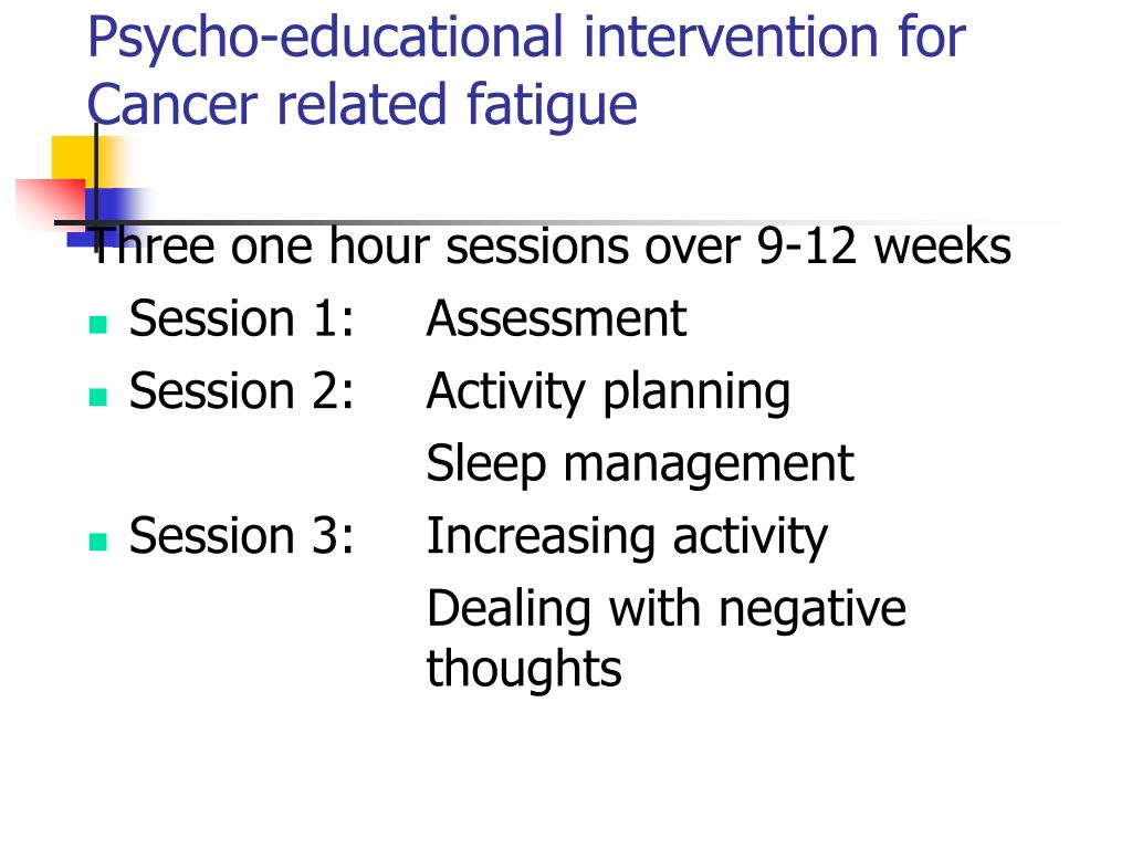 Psycho-educational intervention for Cancer related fatigue