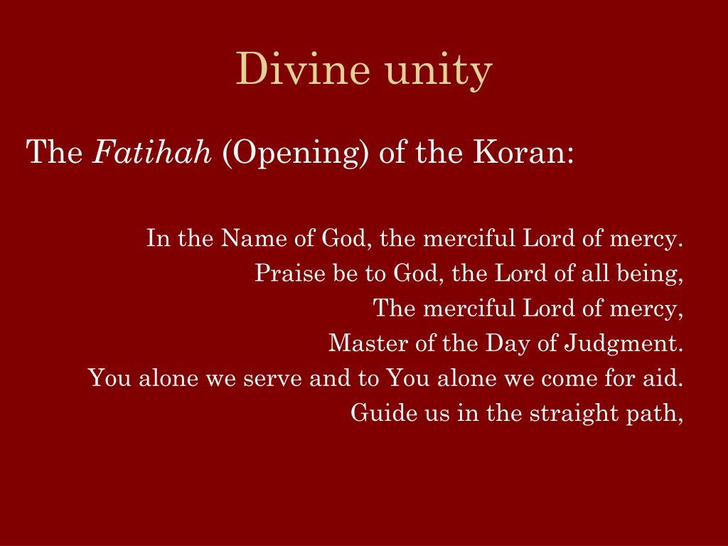 Divine unity