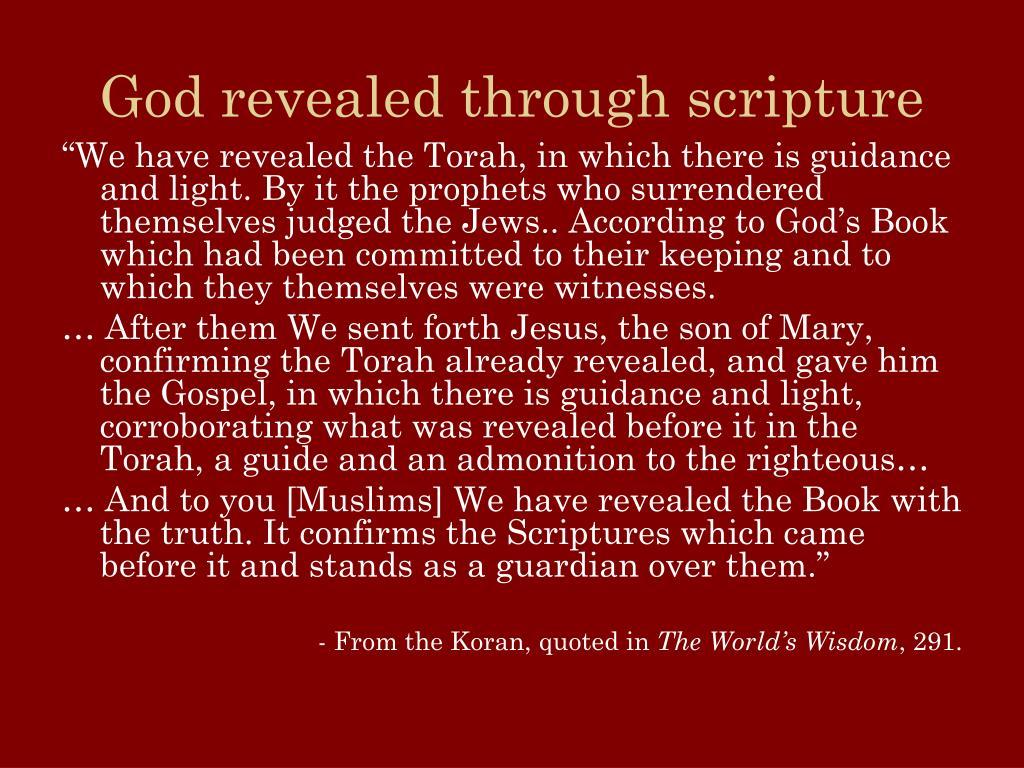God revealed through scripture