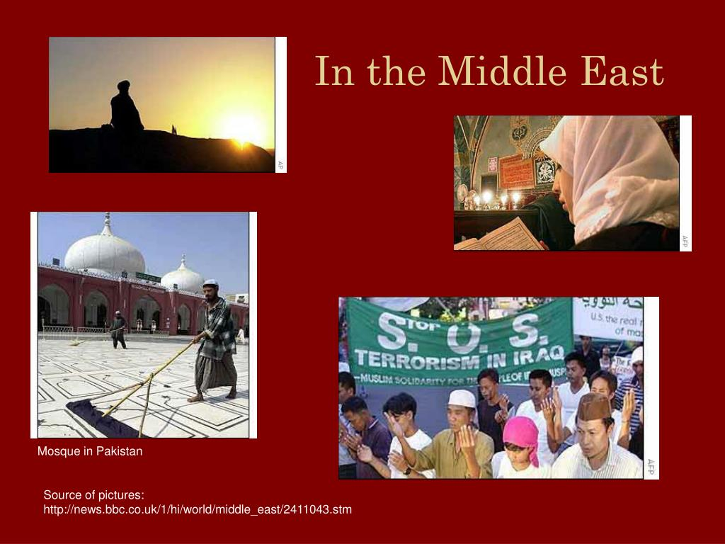 In the Middle East
