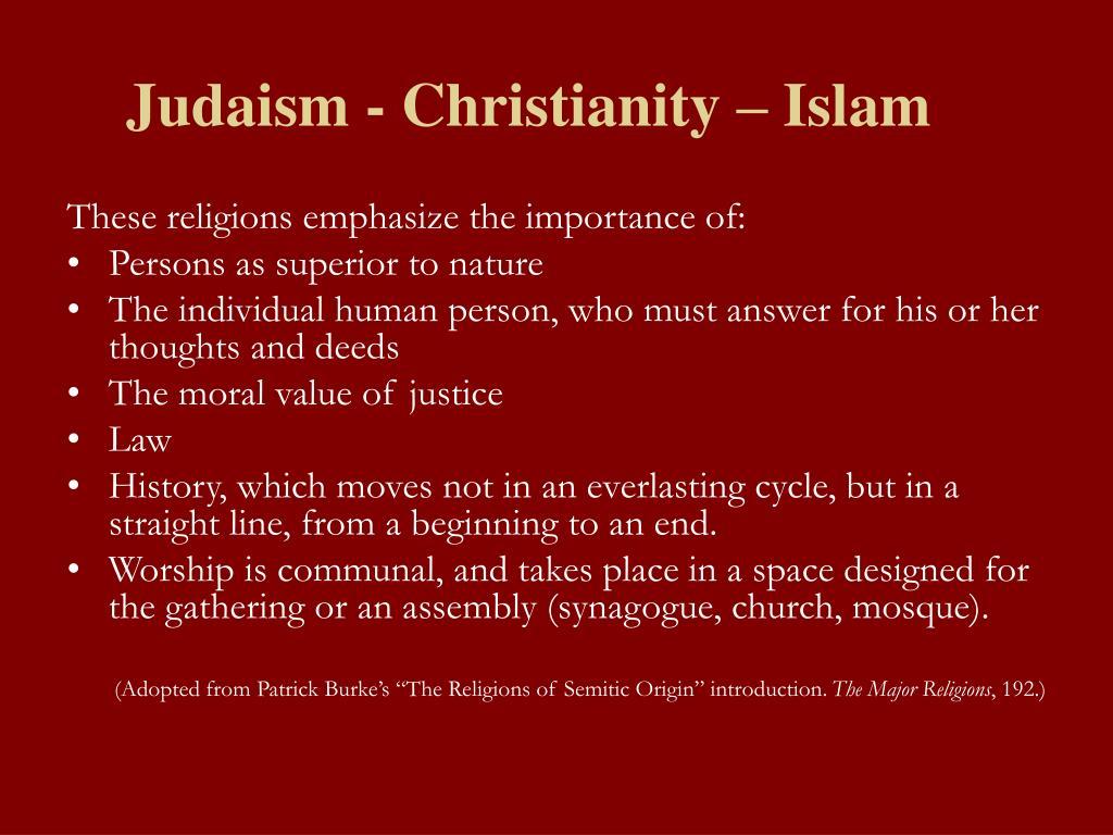 Judaism - Christianity – Islam