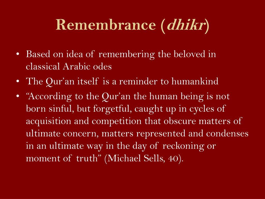 Remembrance (