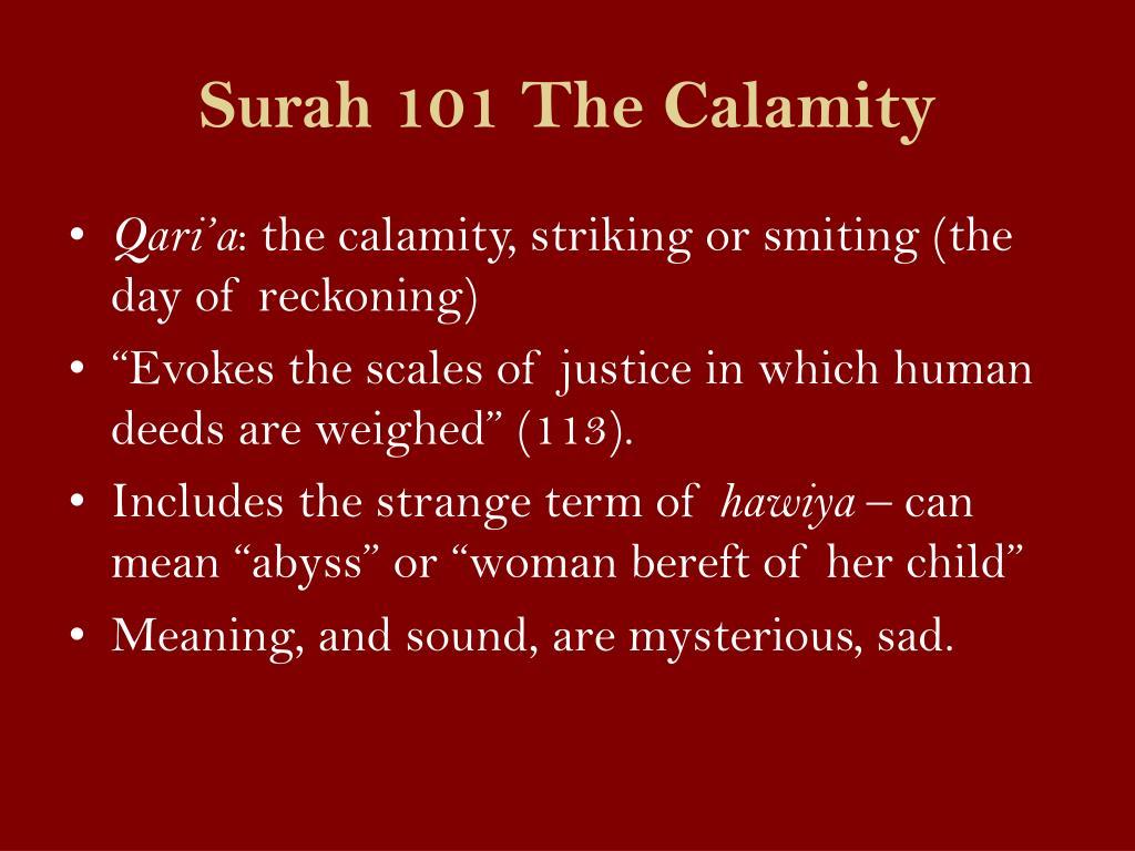 Surah 101 The Calamity