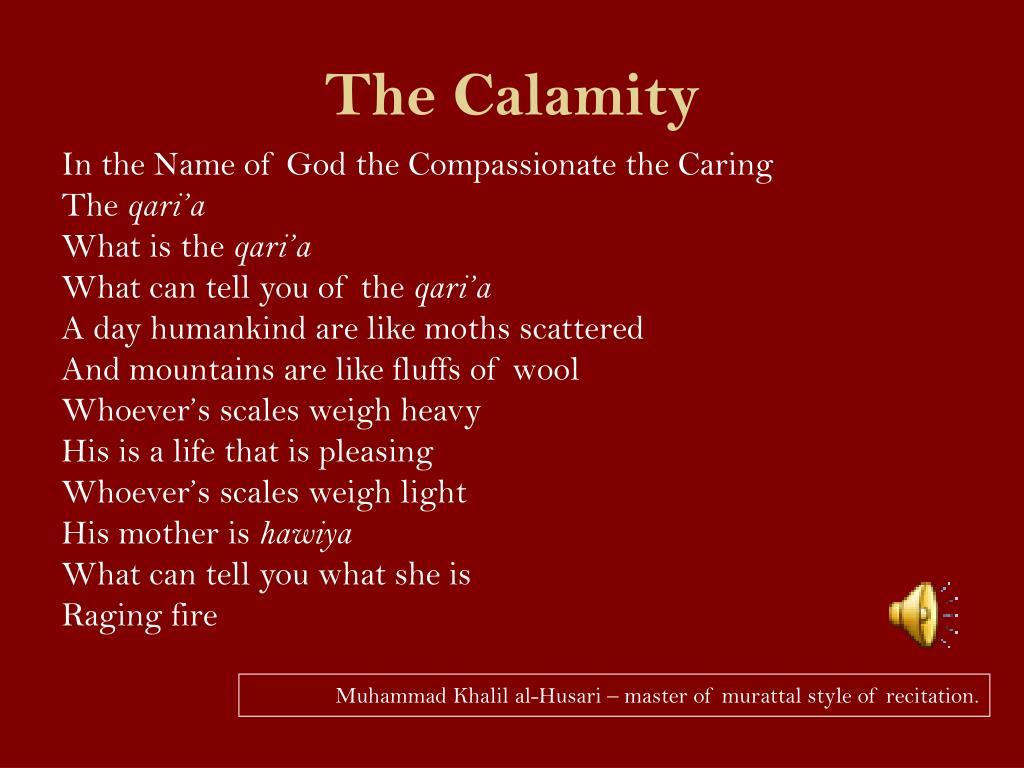 The Calamity